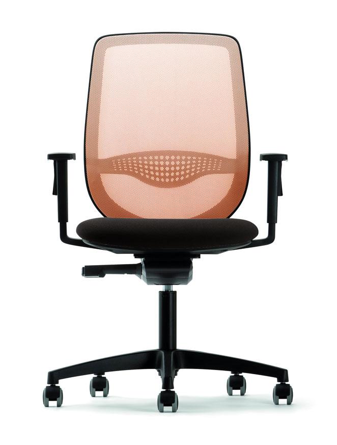 fauteuil-de-bureau-résille-orange