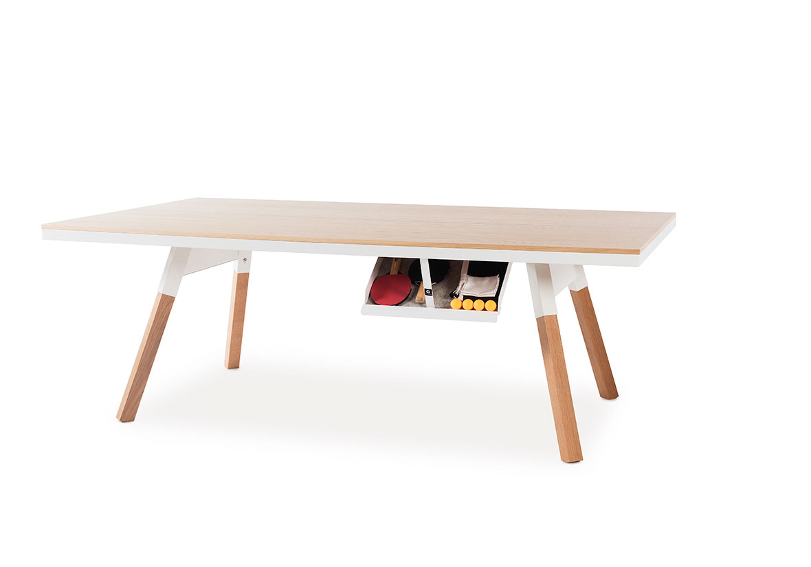Table de réunion ping-pong Chêne (Taille Medium)