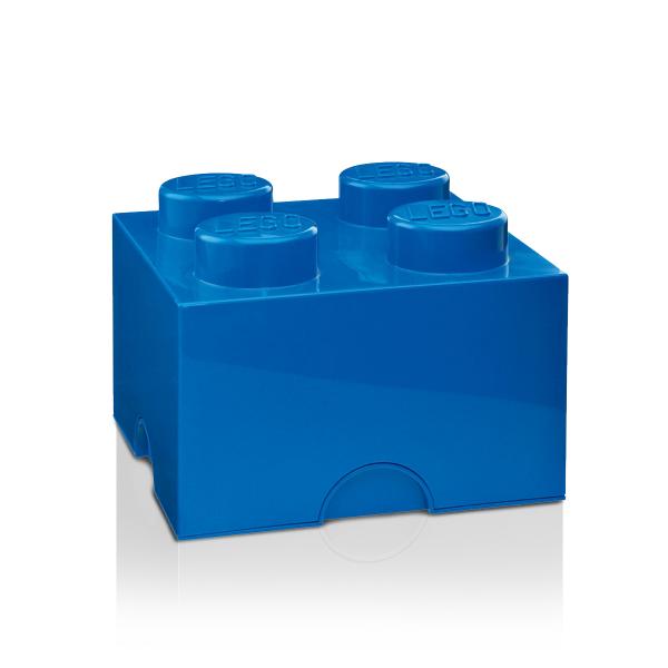 Lot de 6 boites de rangement Lego bleu 4 plots