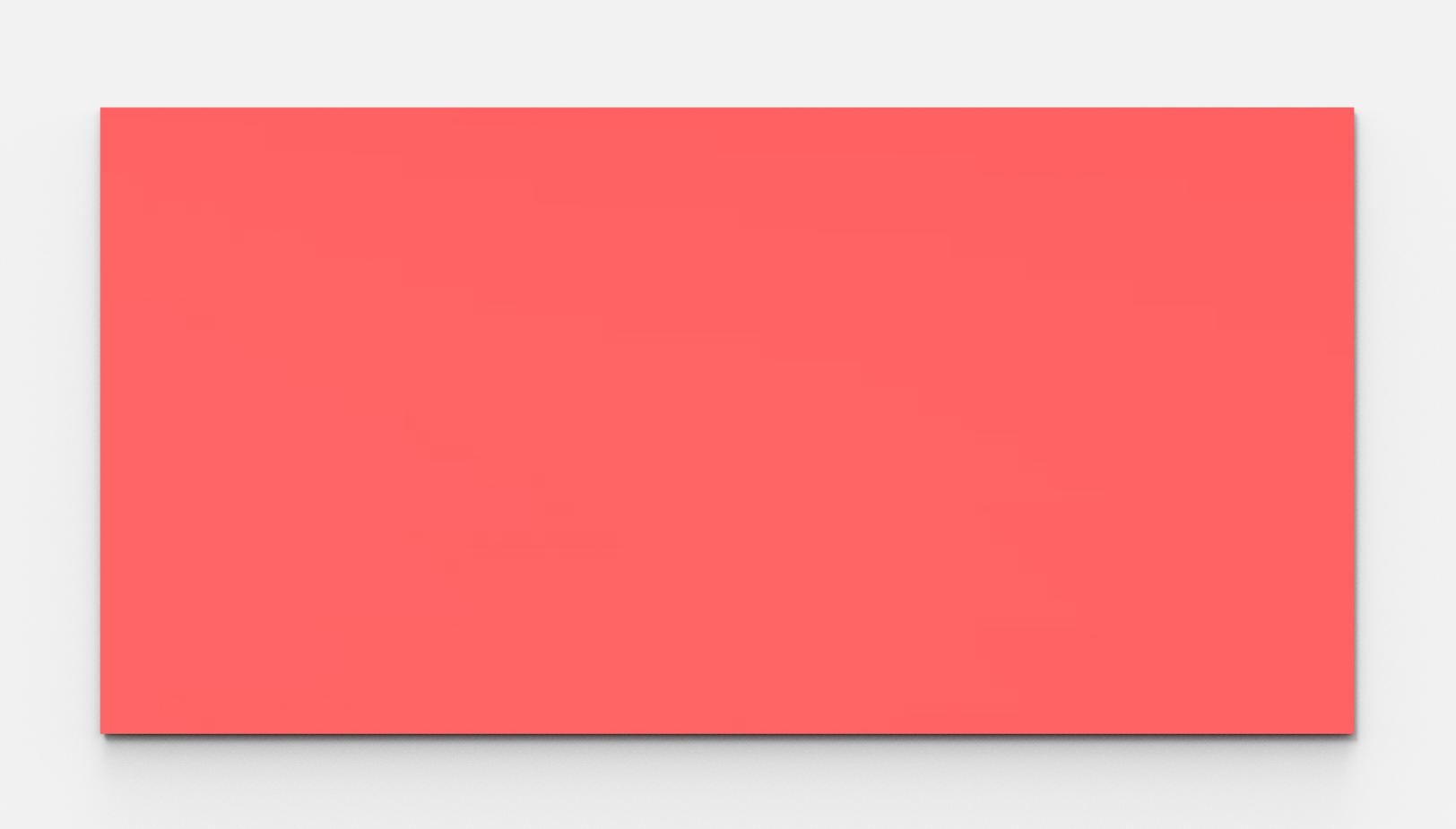 Tableau magnétique rouge en verre