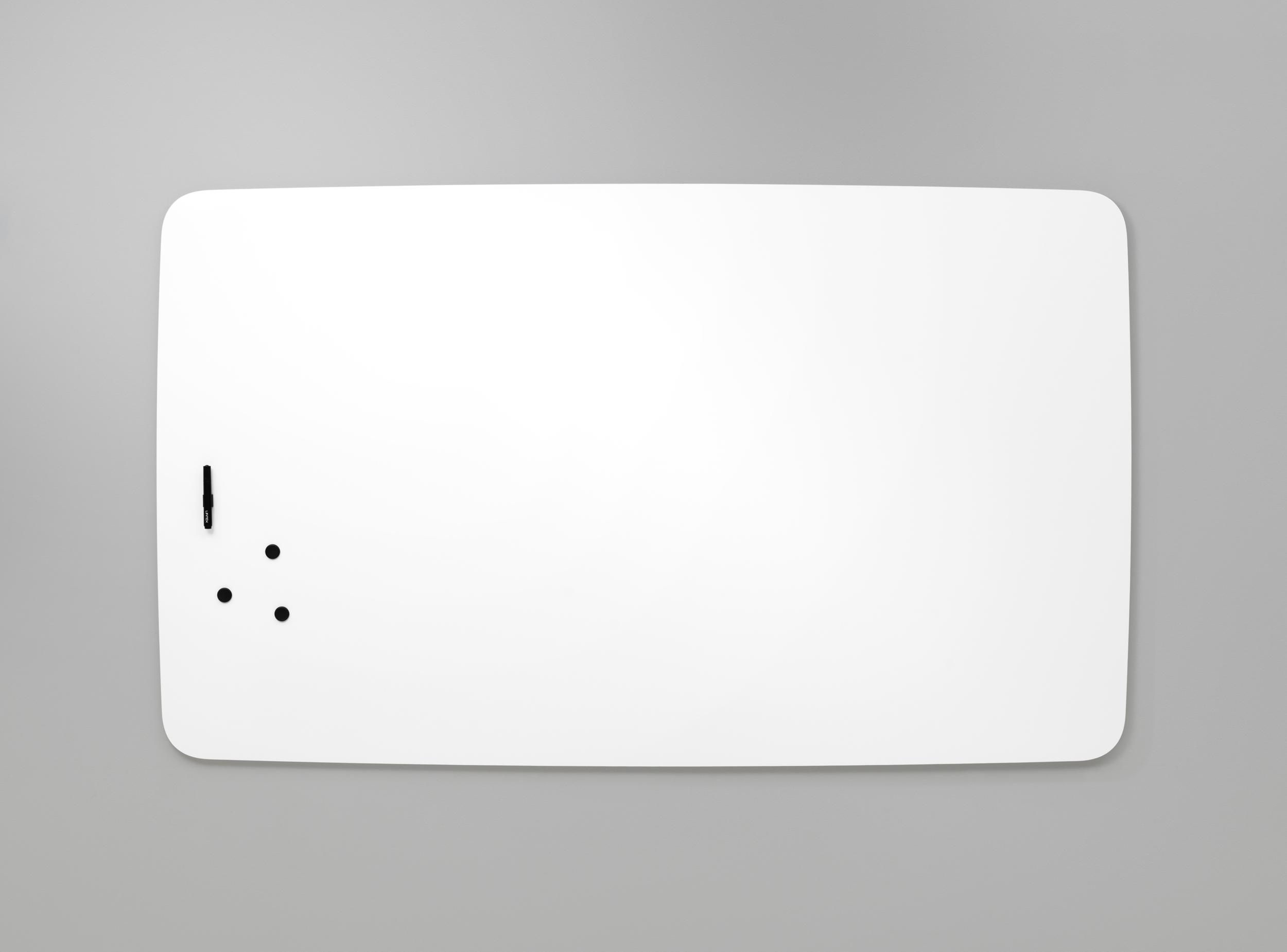 Tableau blanc magnétique arrondis en acier émaillé