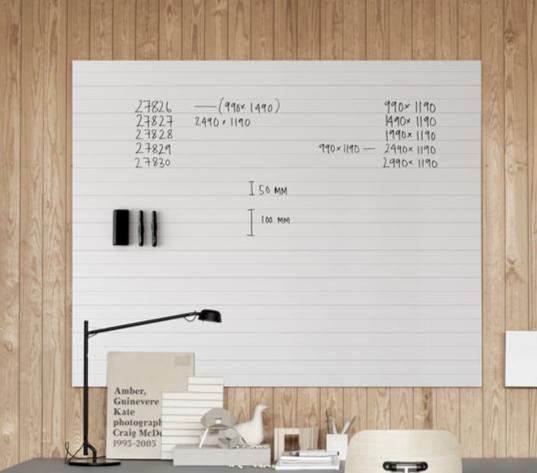 Tableau magnétique blanc bloc-notes