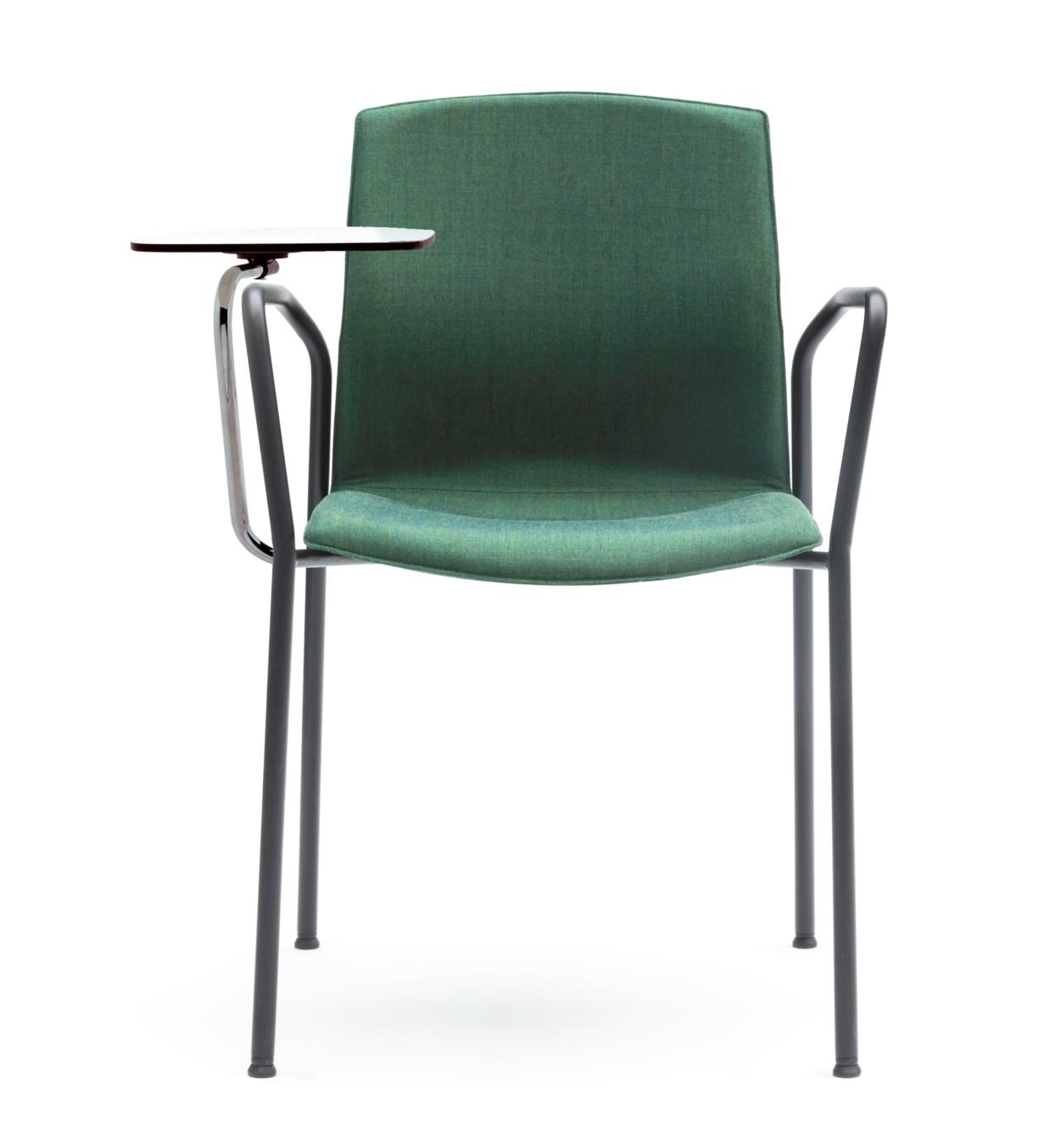 Chaise de conférence tapissée avec tablette Kabi