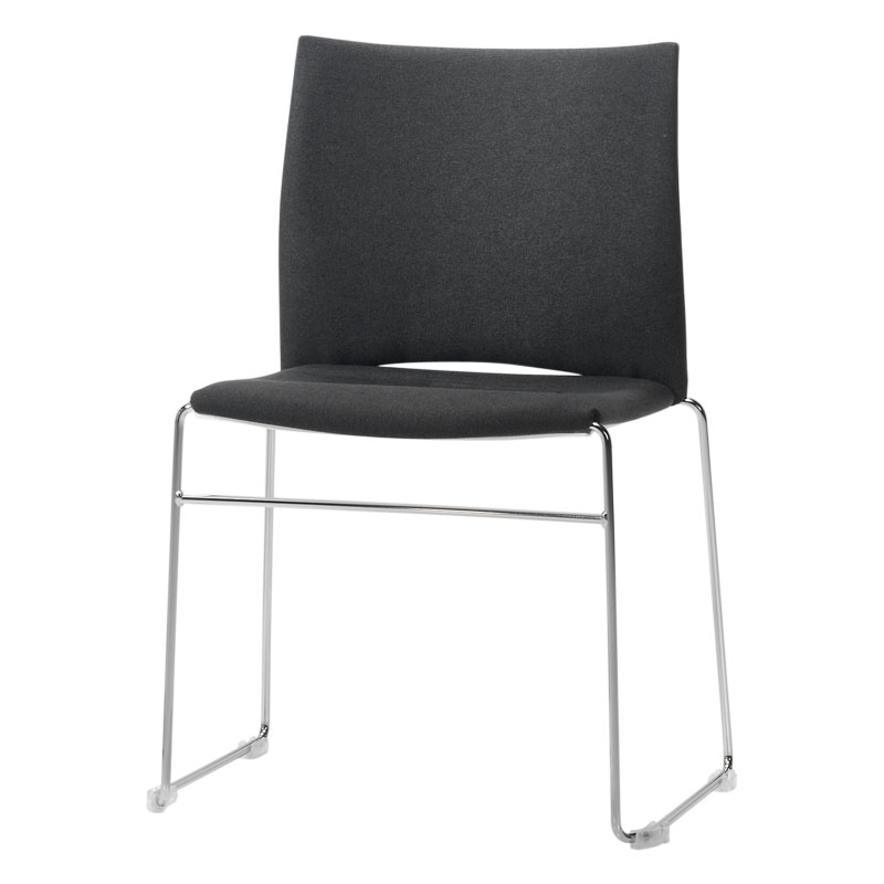 Chaise de conférence tapissée Slim