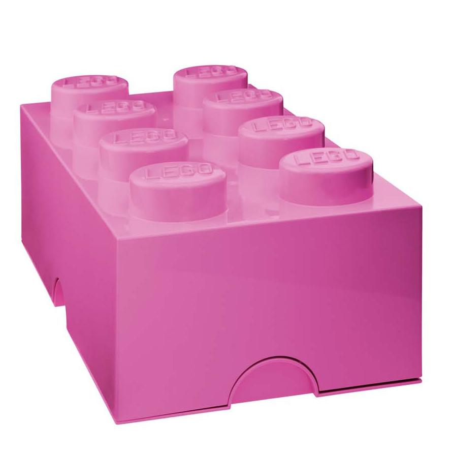 Lot de 3 boites de rangement Lego rose