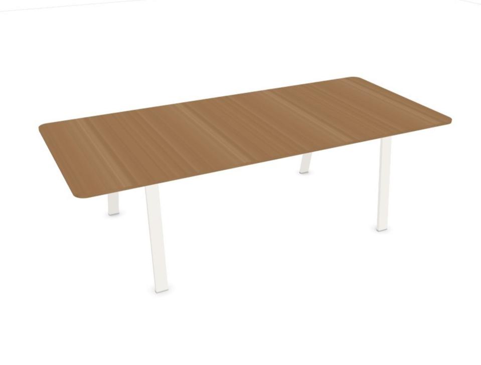 Table de réunion design en bois Evo