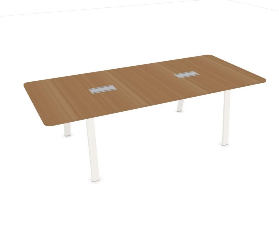 Table de réunion en bois Evo avec top access