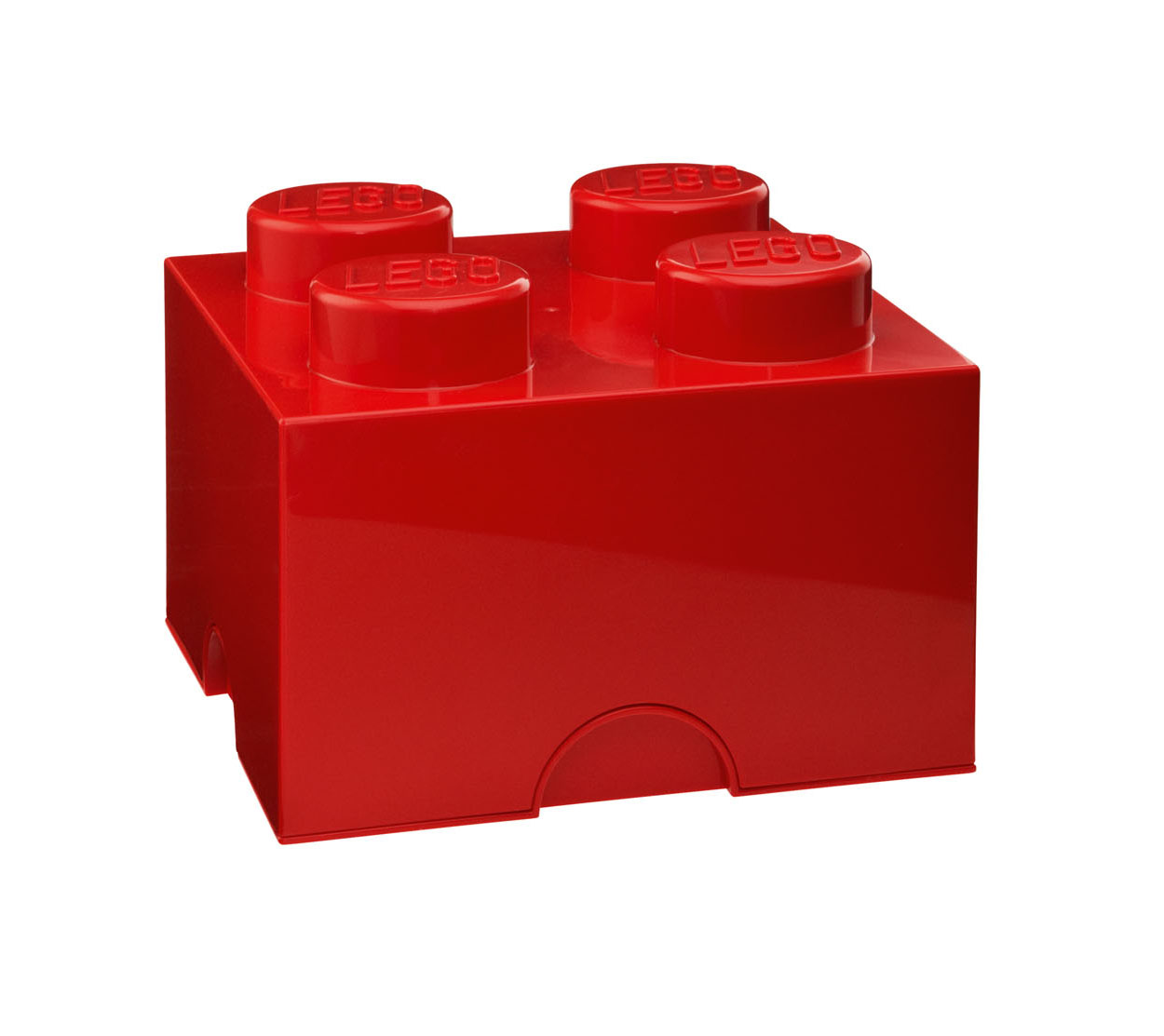 Lot de 6 boites de rangement Lego rouge 4 plots