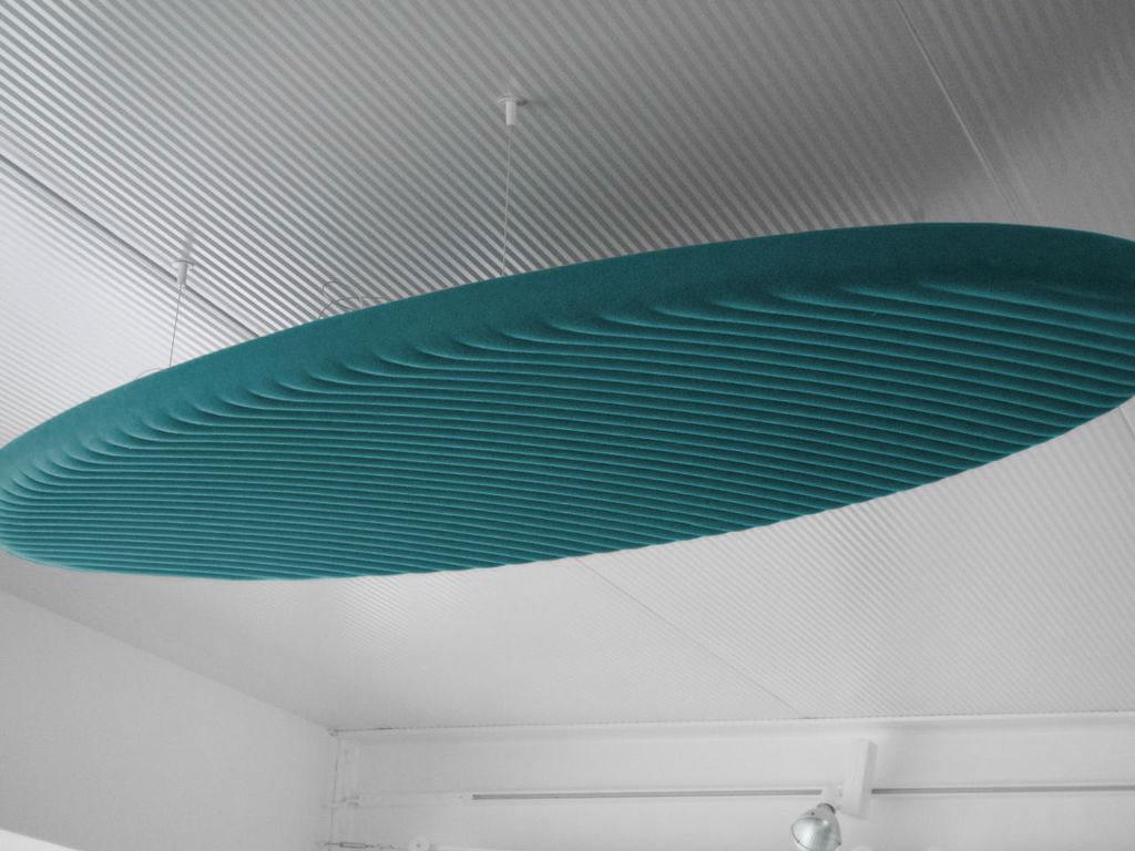 Panneau acoustique ovale en relief
