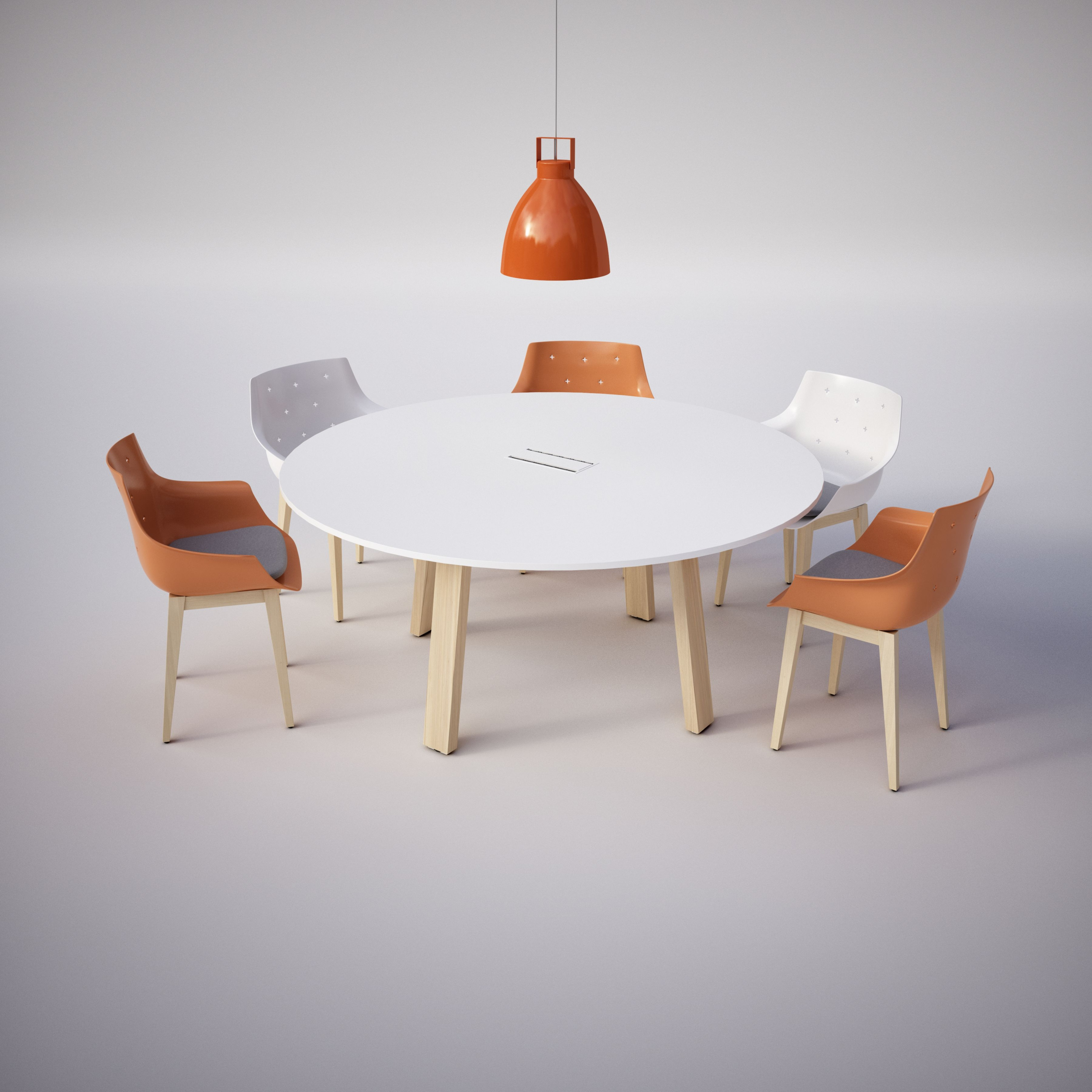 Table de réunion ronde  Country avec top access