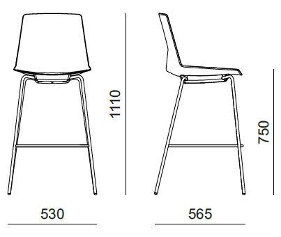 Chaise Haute Design Avec 4 Pieds Metal Pour Bureau Kollori Com