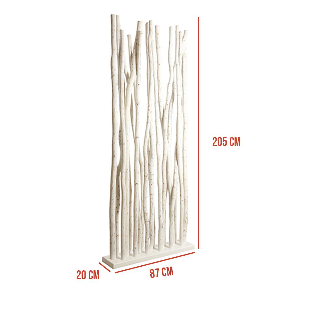 Claustra de séparation bureau en bois blanc