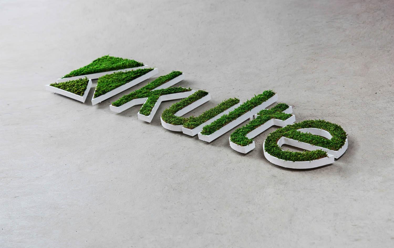 Logo végétal mousse des bois