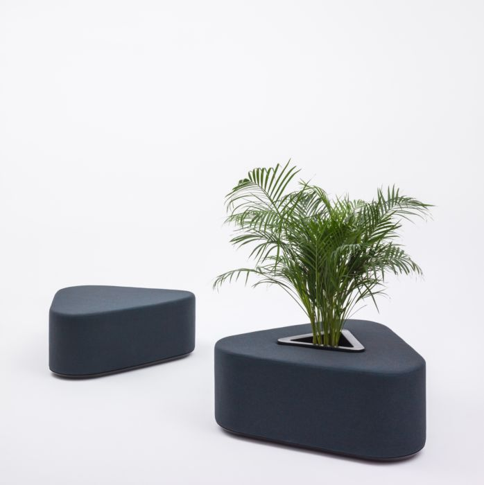Grand pouf Hana avec bac à plantes