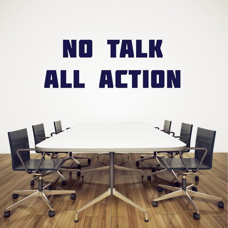 Lettres adhésives No talk All action pour bureau