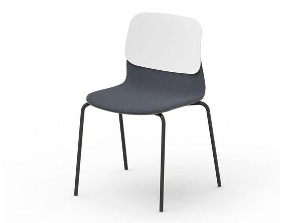 Chaise design tapissée Klik (lot de 3 ou 4 chaises)