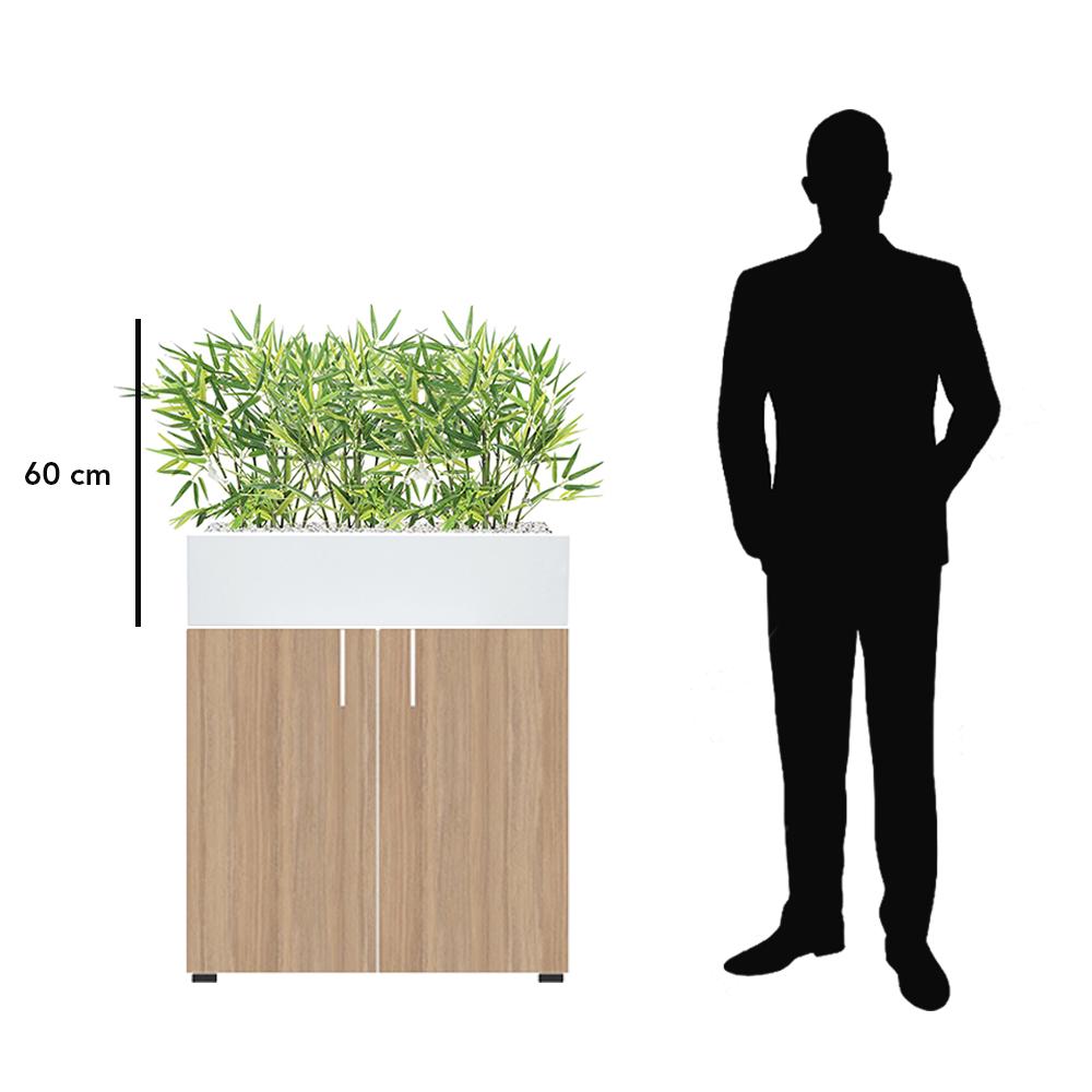 Jardinière bambous artificiels