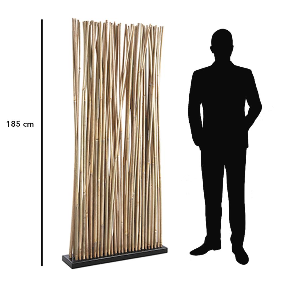 Claustra de séparation pour bureau en bambous naturels