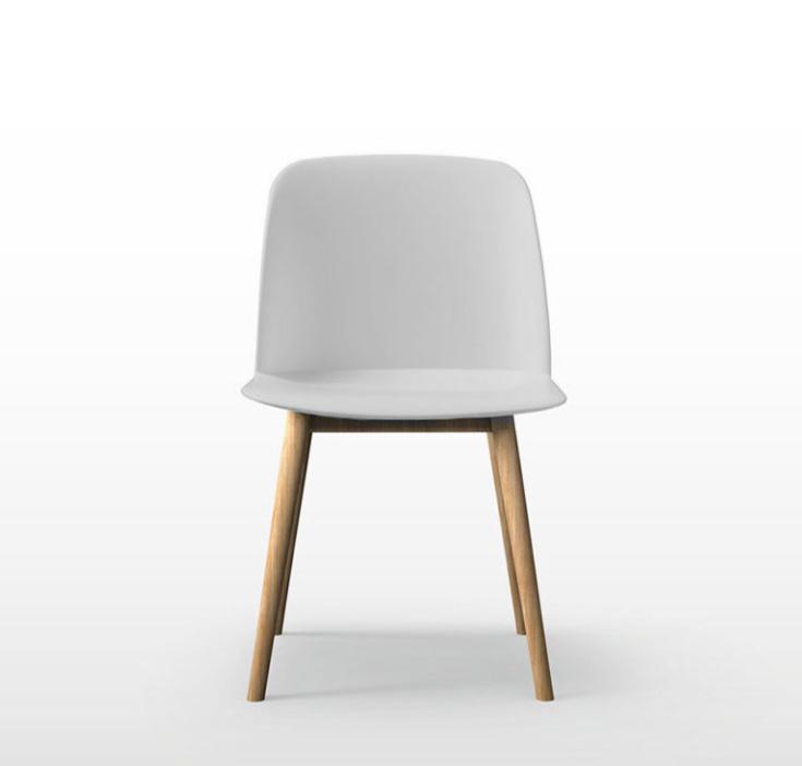 chaise-polyvalente-blanche-avec-un-piétement-en-bois