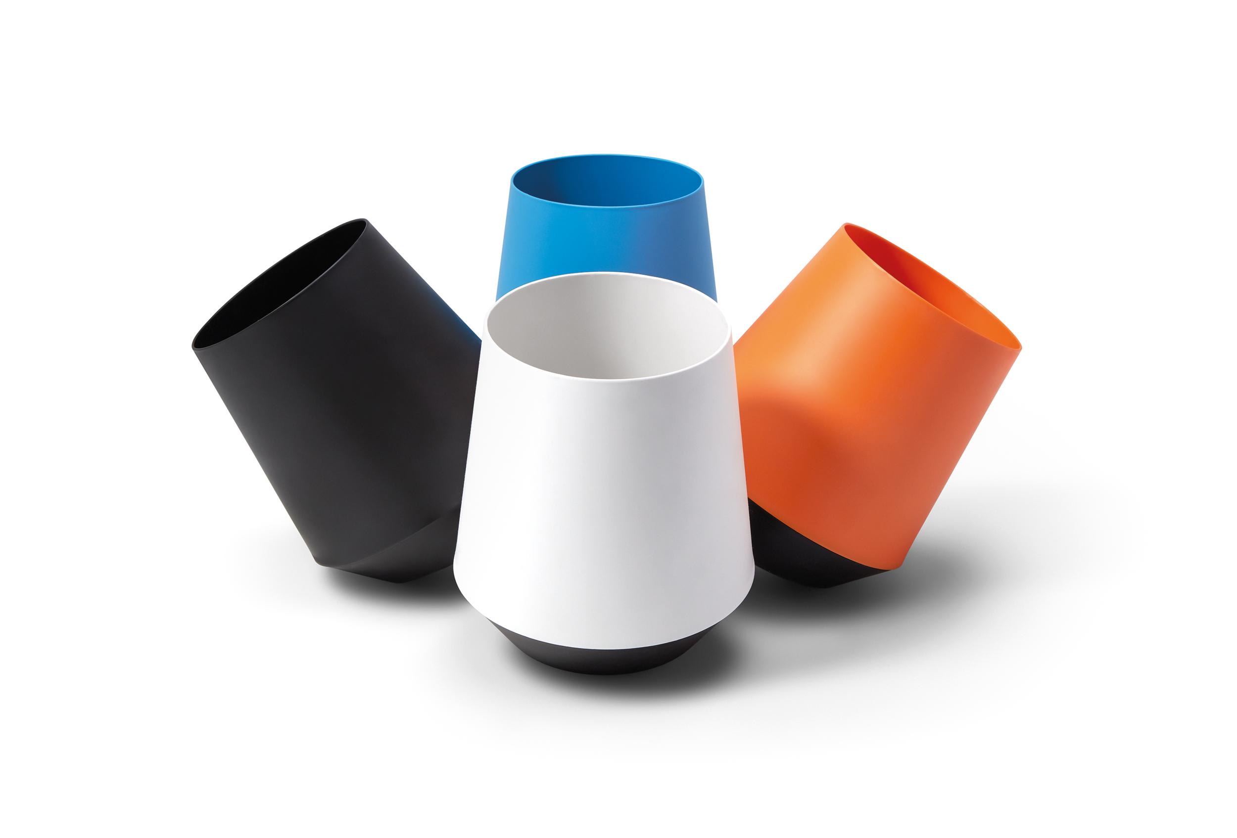 Corbeilles de bureau design et colorée