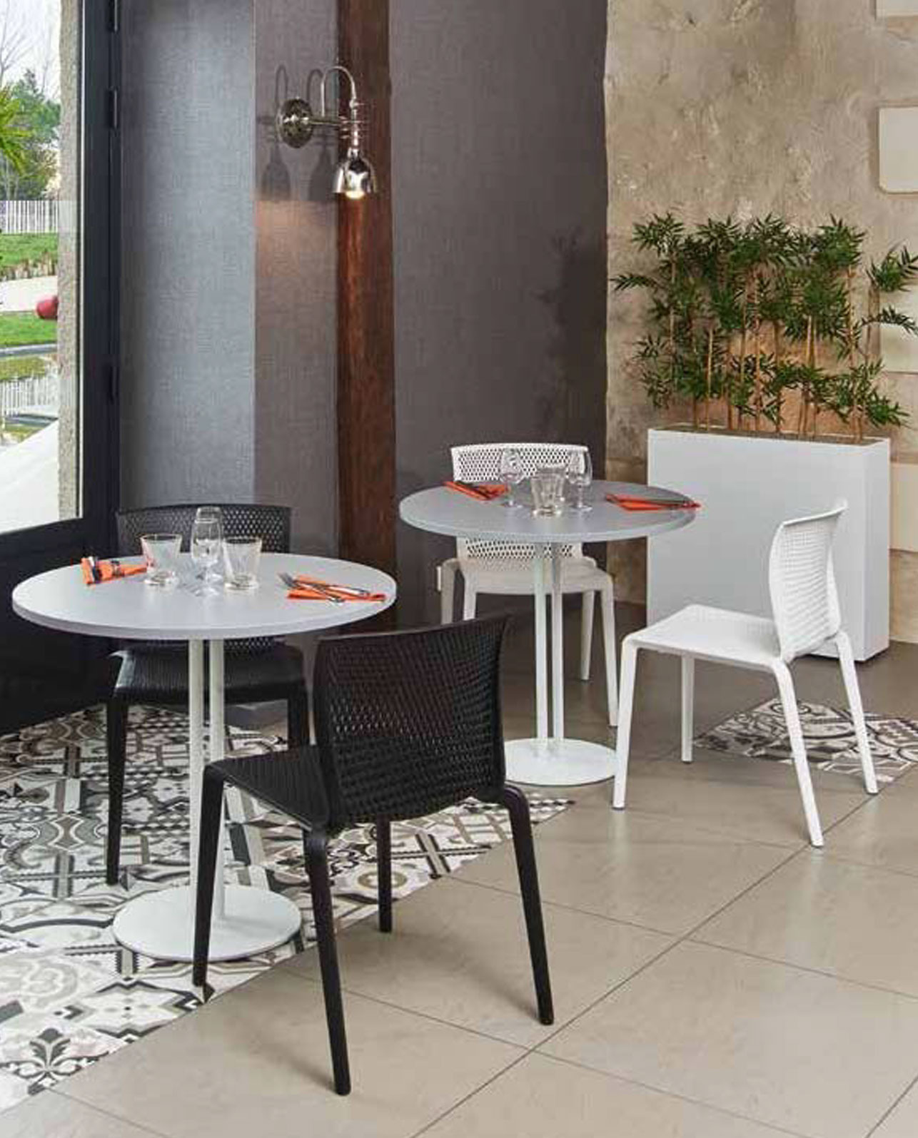 Table de cafétéria ronde 60cm Roxane