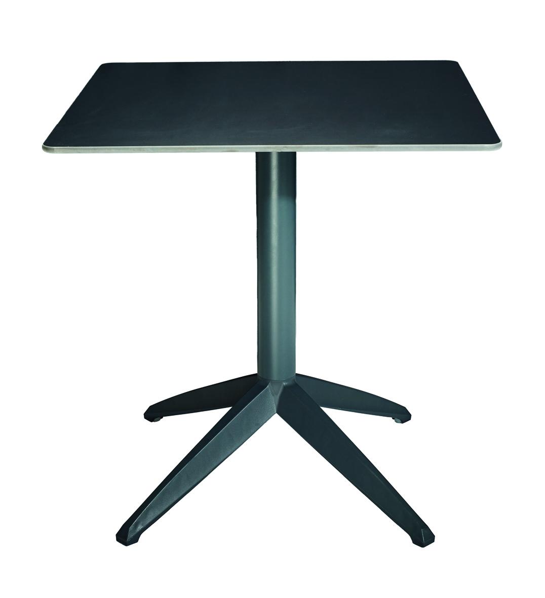 table cafétéria pliante pied noir plateau noir