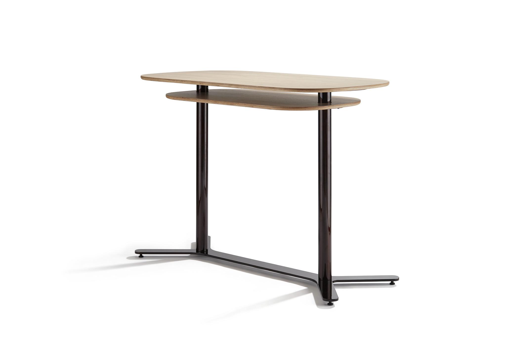 Grande table haute Gune double plateau