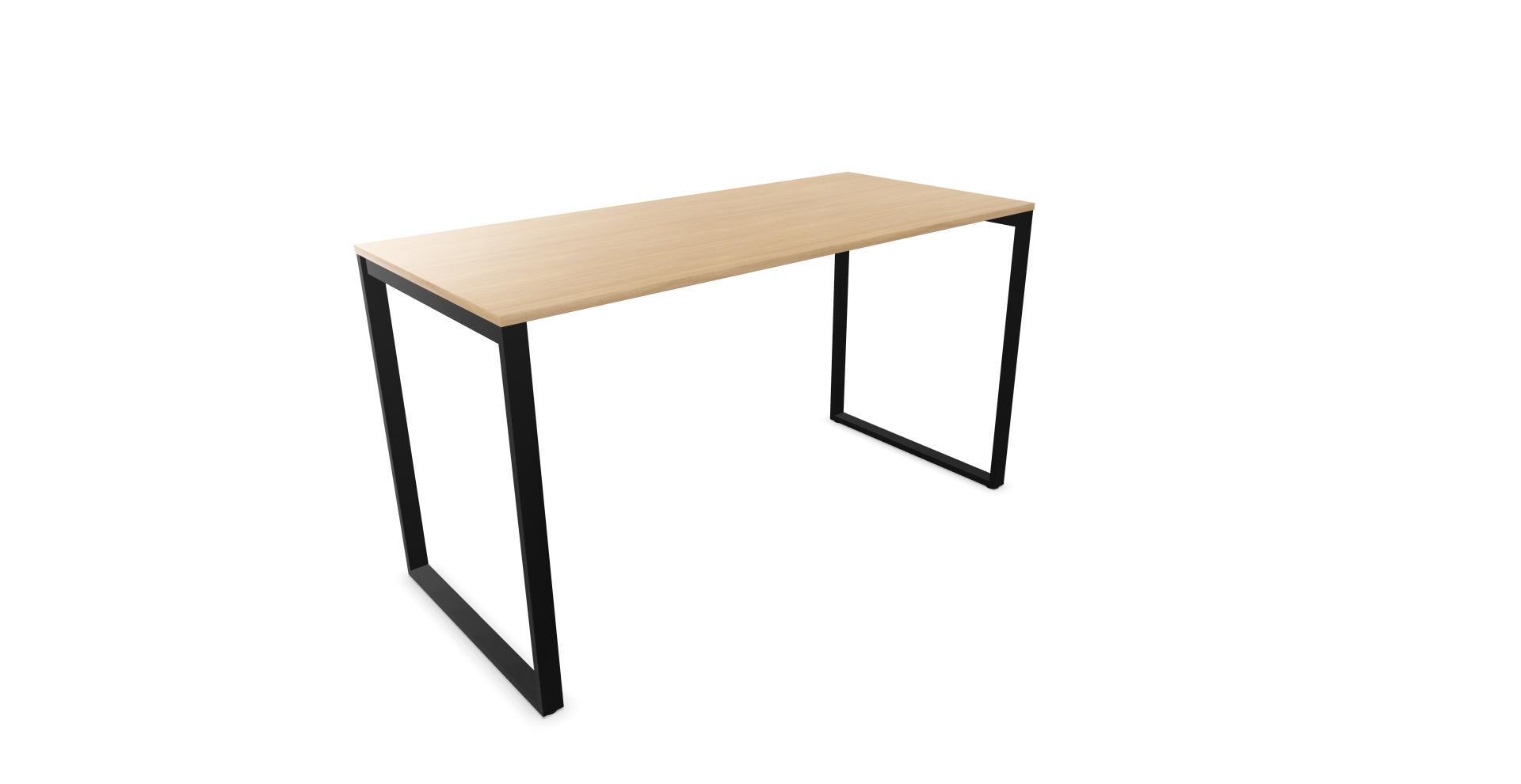 Table haute SQart pieds noir plateau chêne