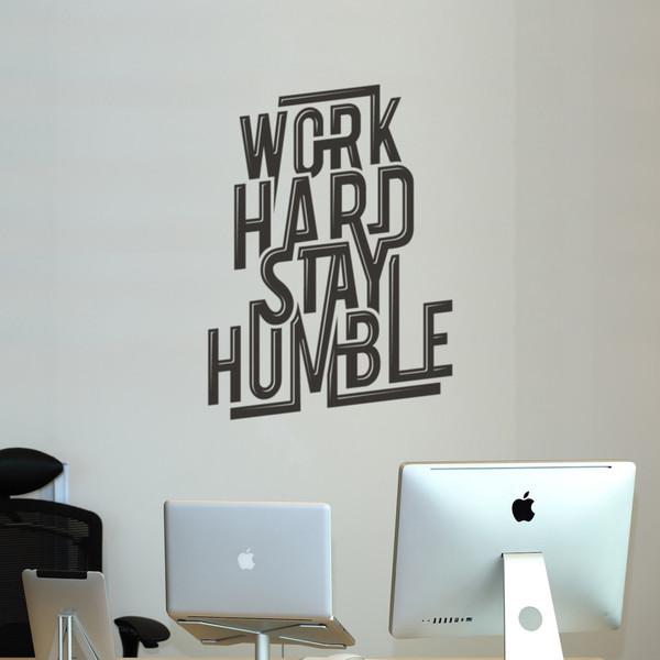 D co murale work hard stay humble pour bureaux - Decoration des bureaux ...