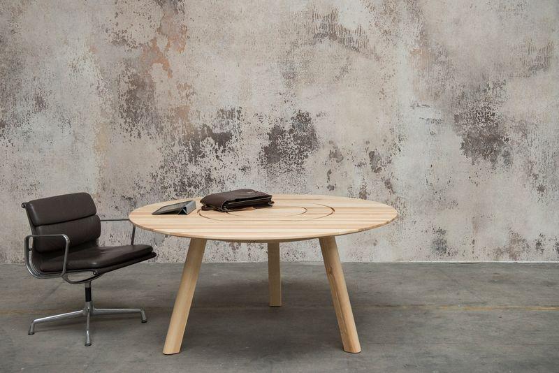 Table de coworking ronde Picnic