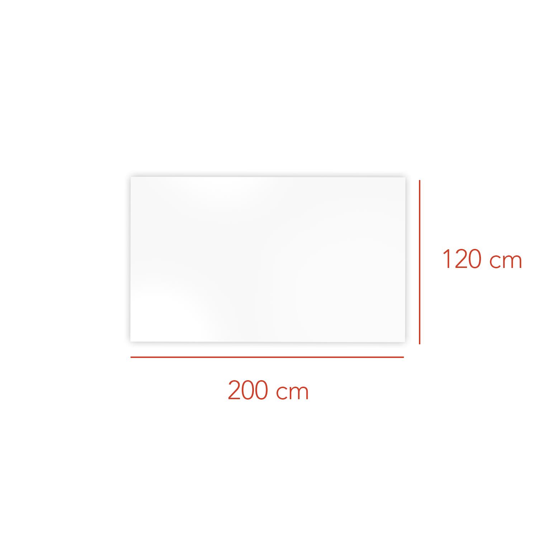 Tableau magnétique blanc en verre Nota