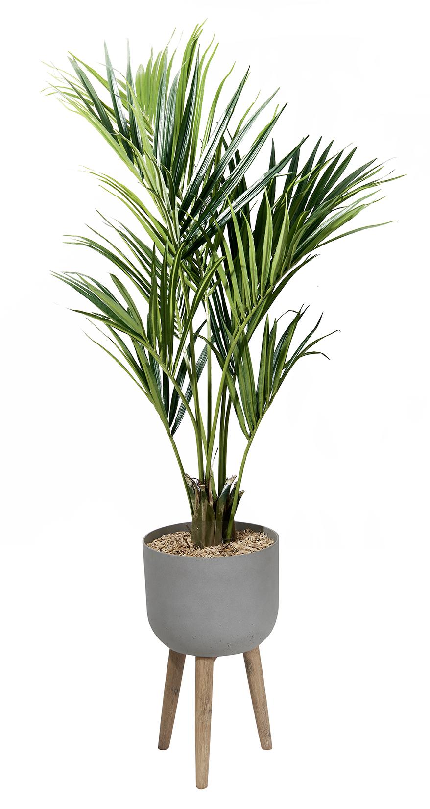 Palmier artificiel avec un bac design pieds bois