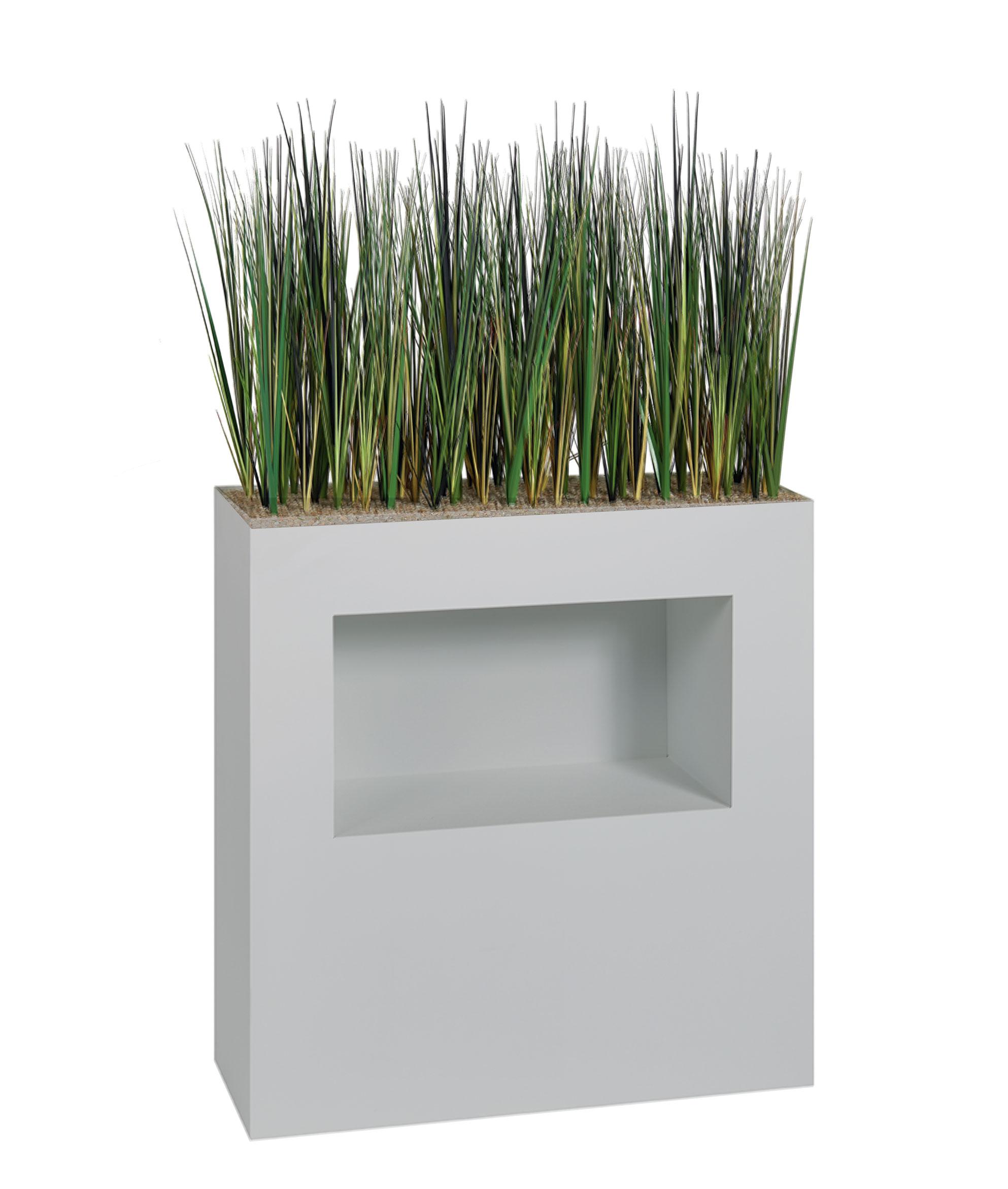 Jardinière haute herbes artificielles