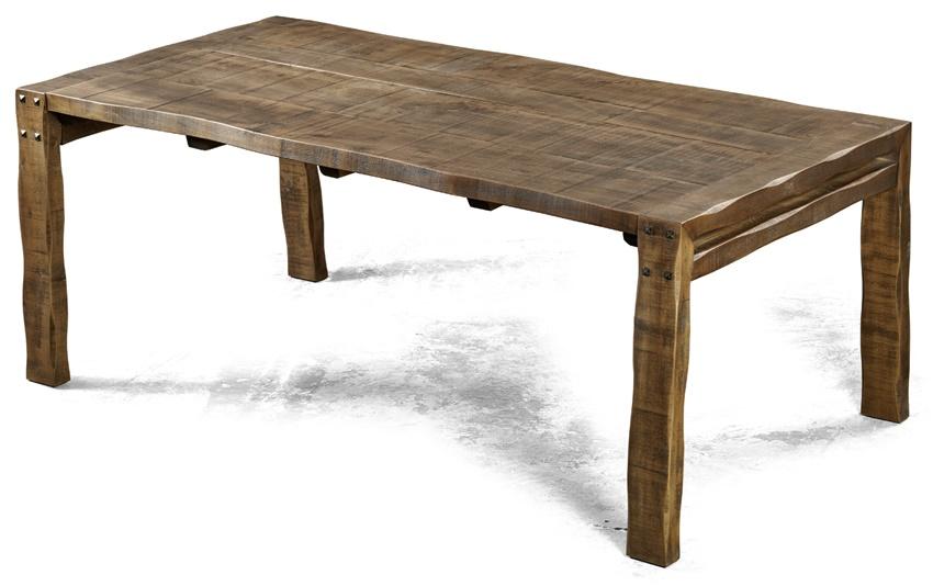 Table de ferme rustique pieds droits