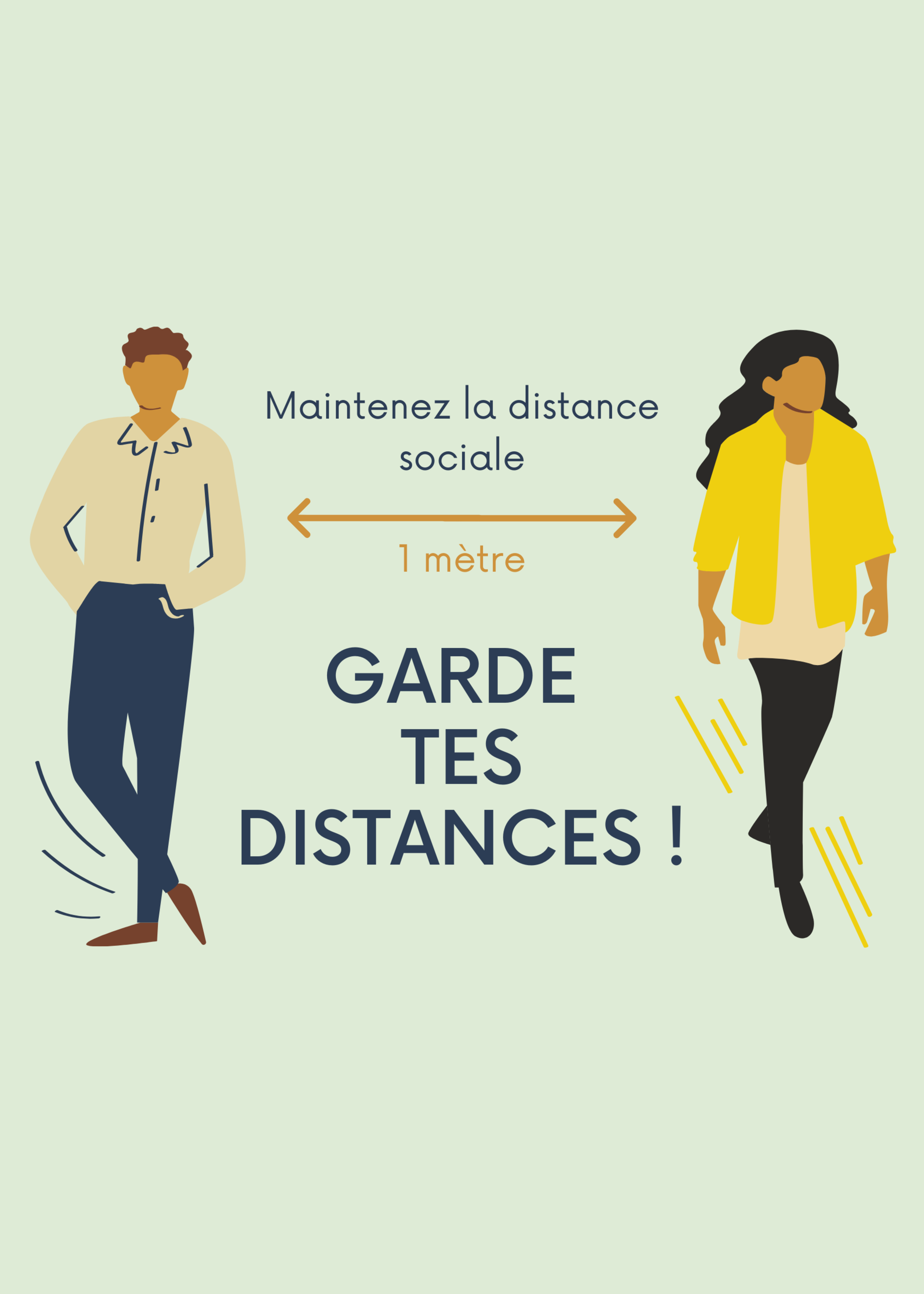 Affiche prévention Garde tes distances !