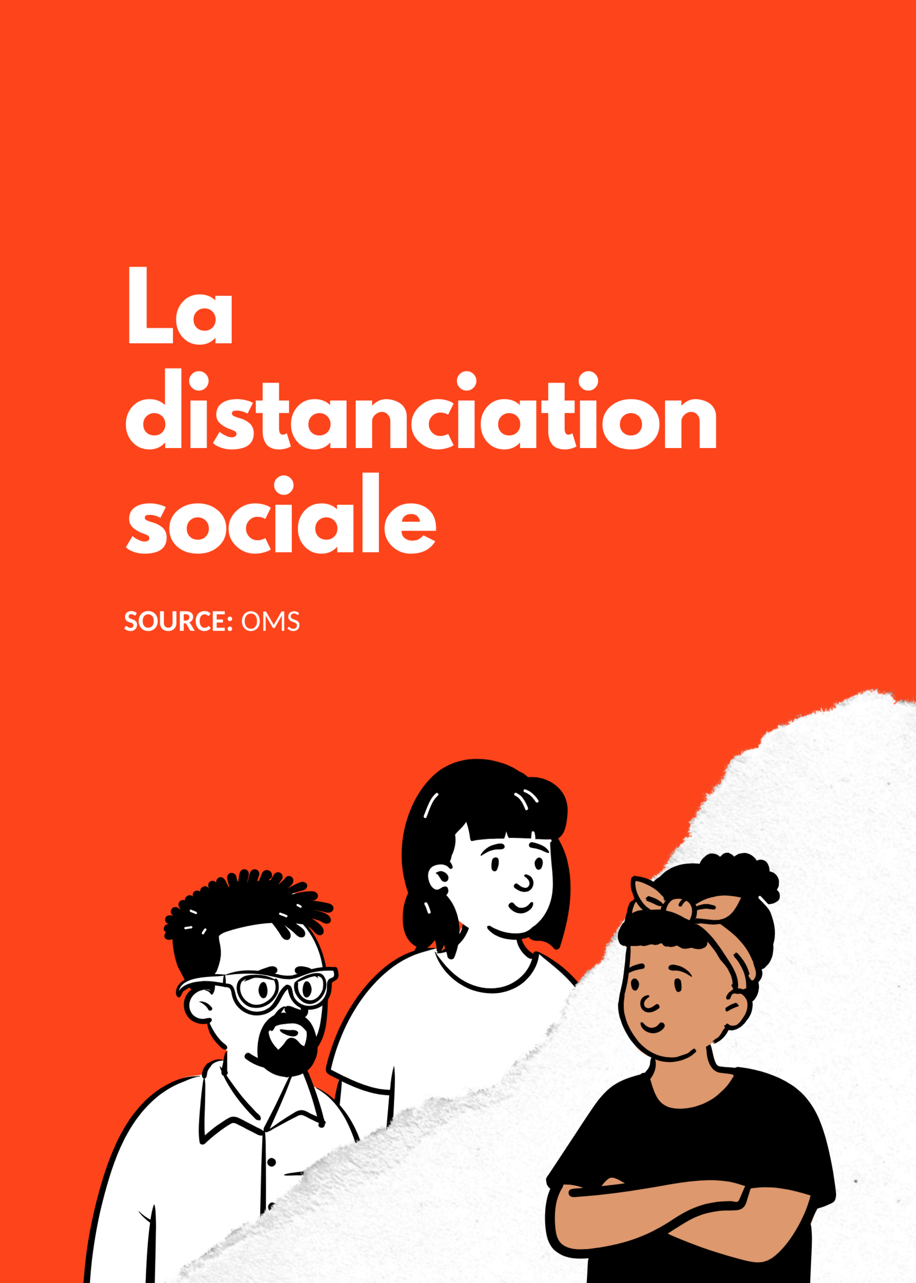 5 affiches Règles distanciation sociale
