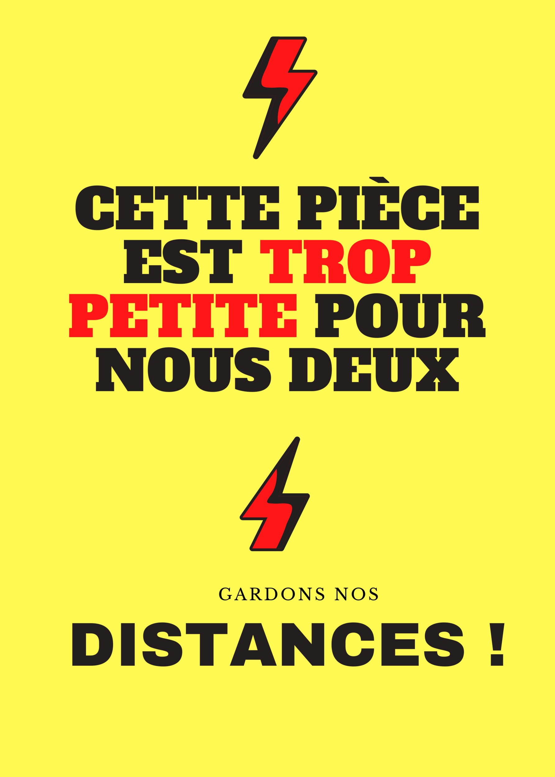 Affiche Gardons nos distances