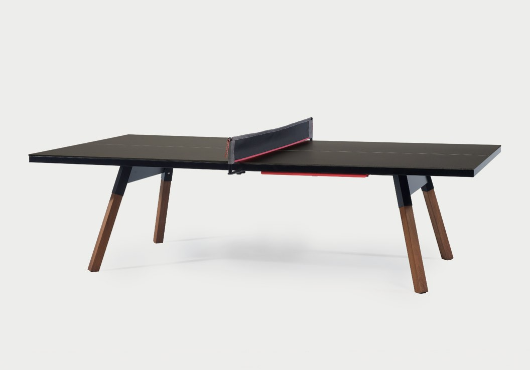table de r union transformable en table de ping pong blanche ou noire. Black Bedroom Furniture Sets. Home Design Ideas