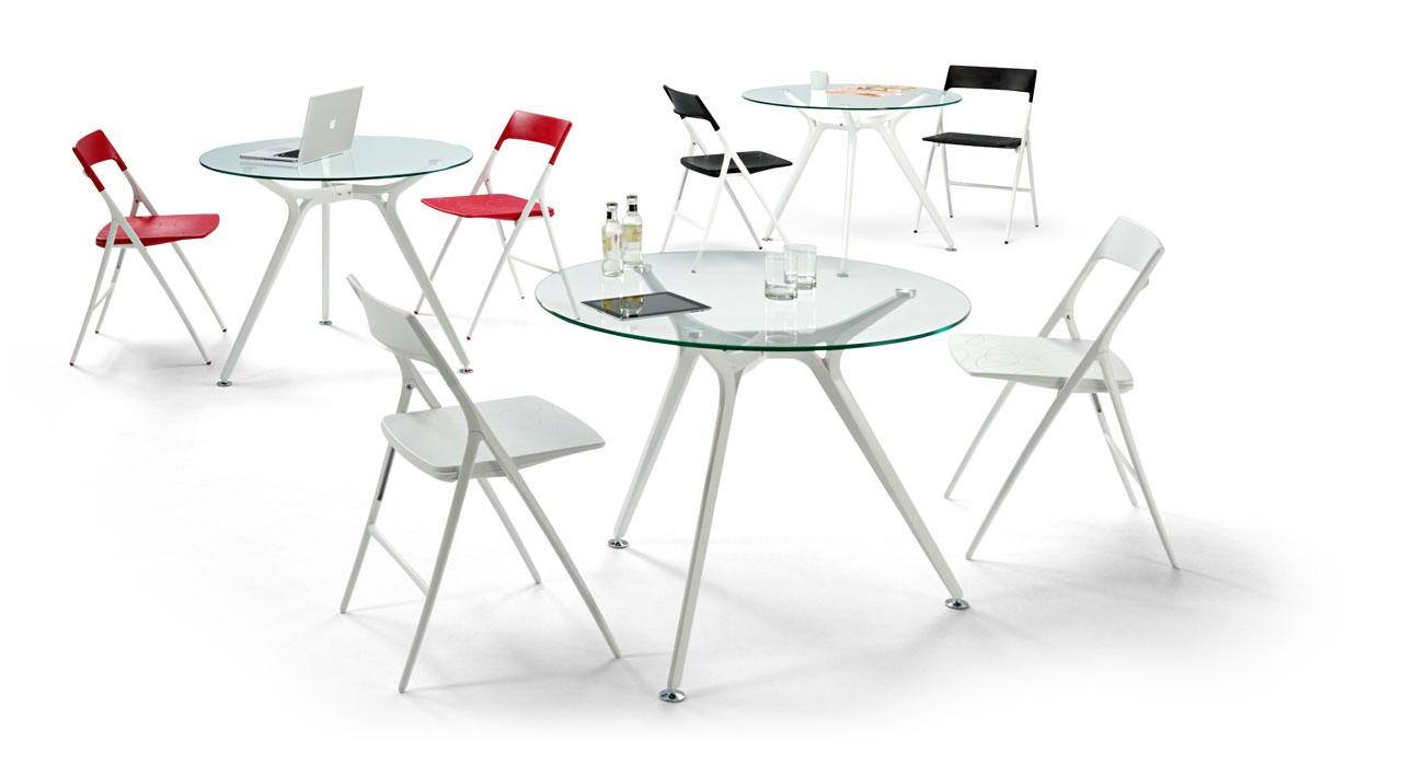 Table ronde en verre Arkitek