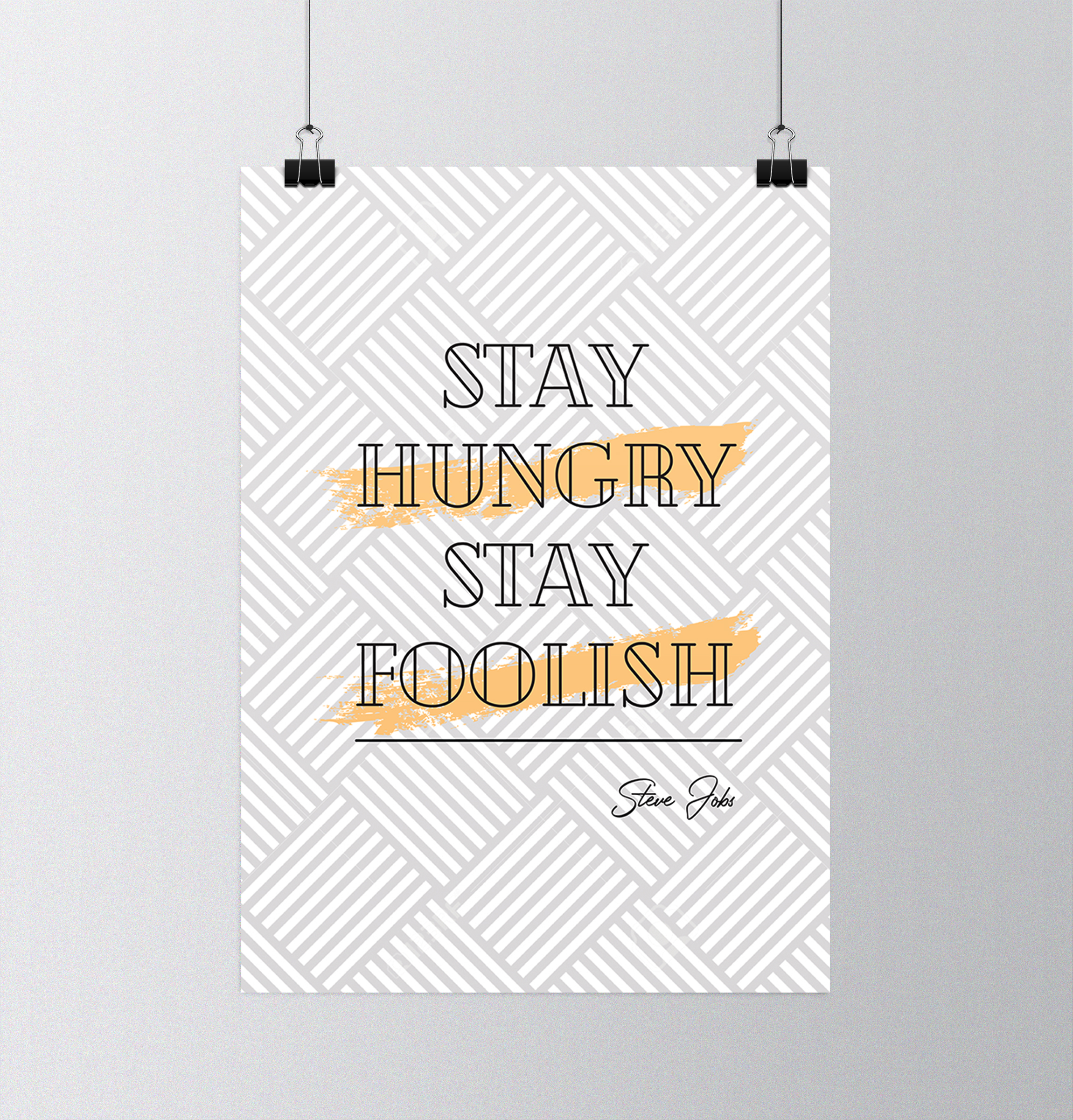 Affiche Stay Hungry Stay Foolish