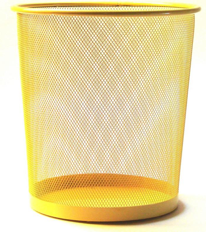 corbeille papier jaune pour le bureau. Black Bedroom Furniture Sets. Home Design Ideas