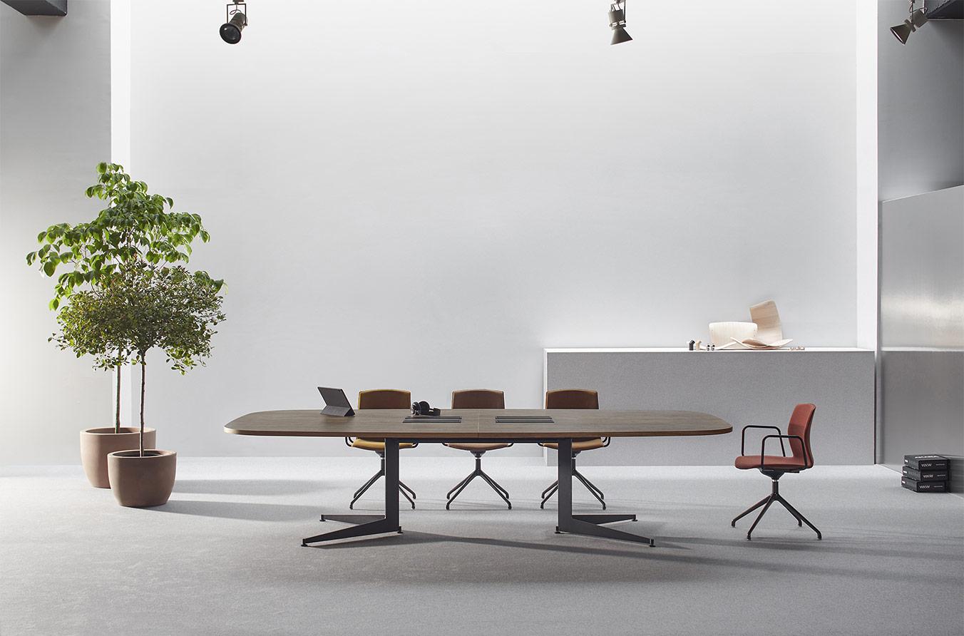 table de réunion usoa top access et pied classique