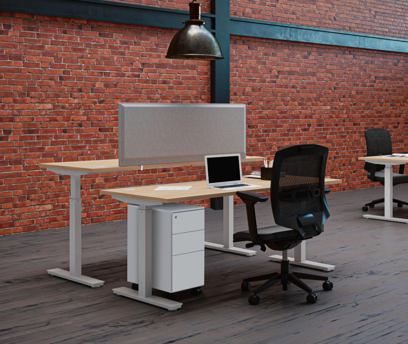 Bureau assis debout réglable en hauteur Envol