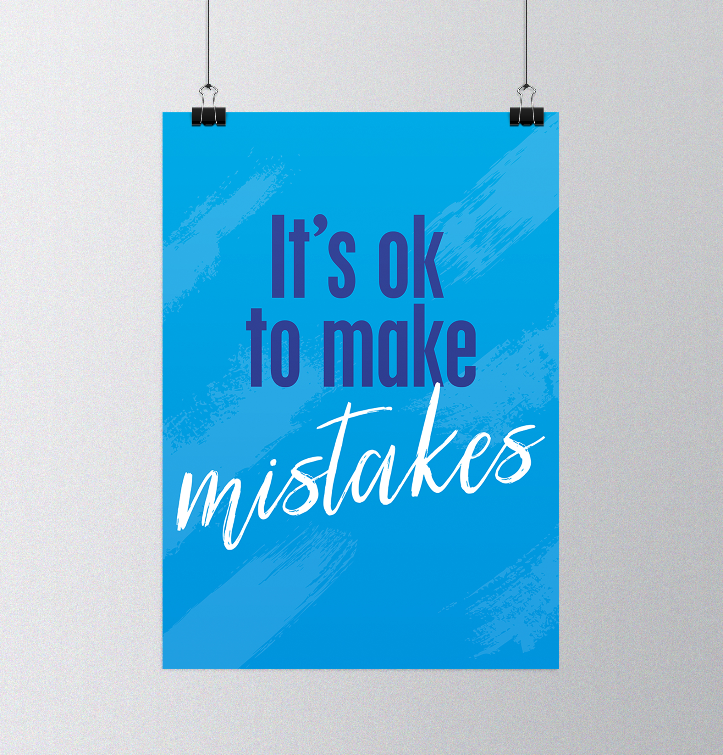 Affiche It\'s ok to make mistake