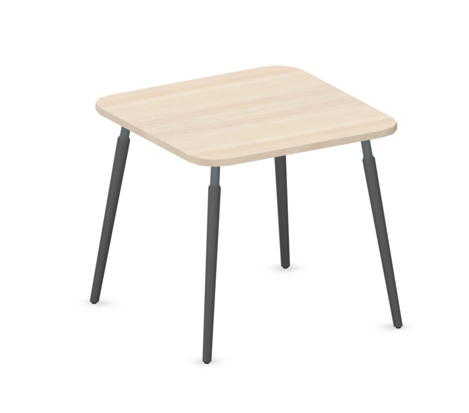 table de réunion brainstorming modulable 80x80 cm érable et gris