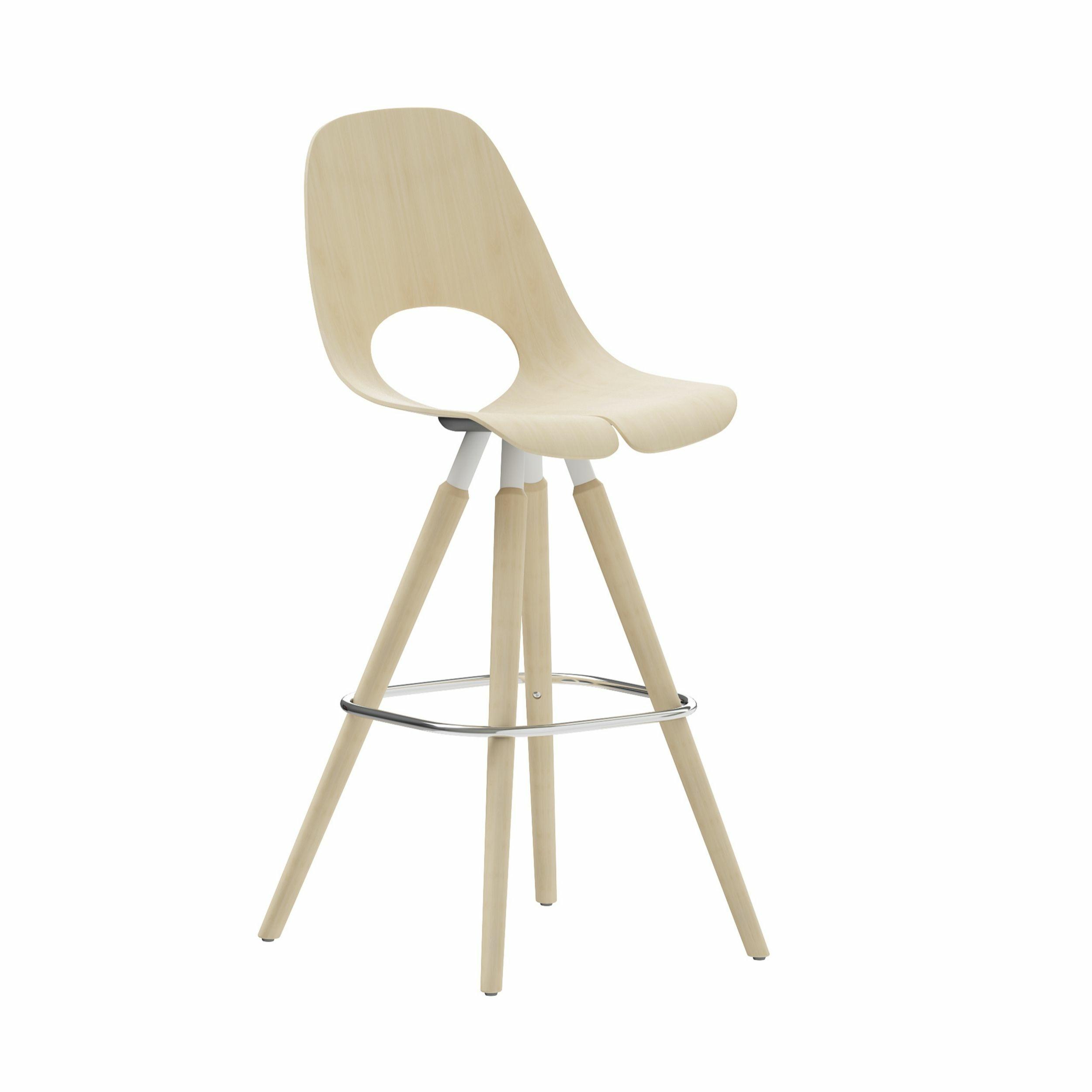 Chaise haute avec pieds en bois Tauko