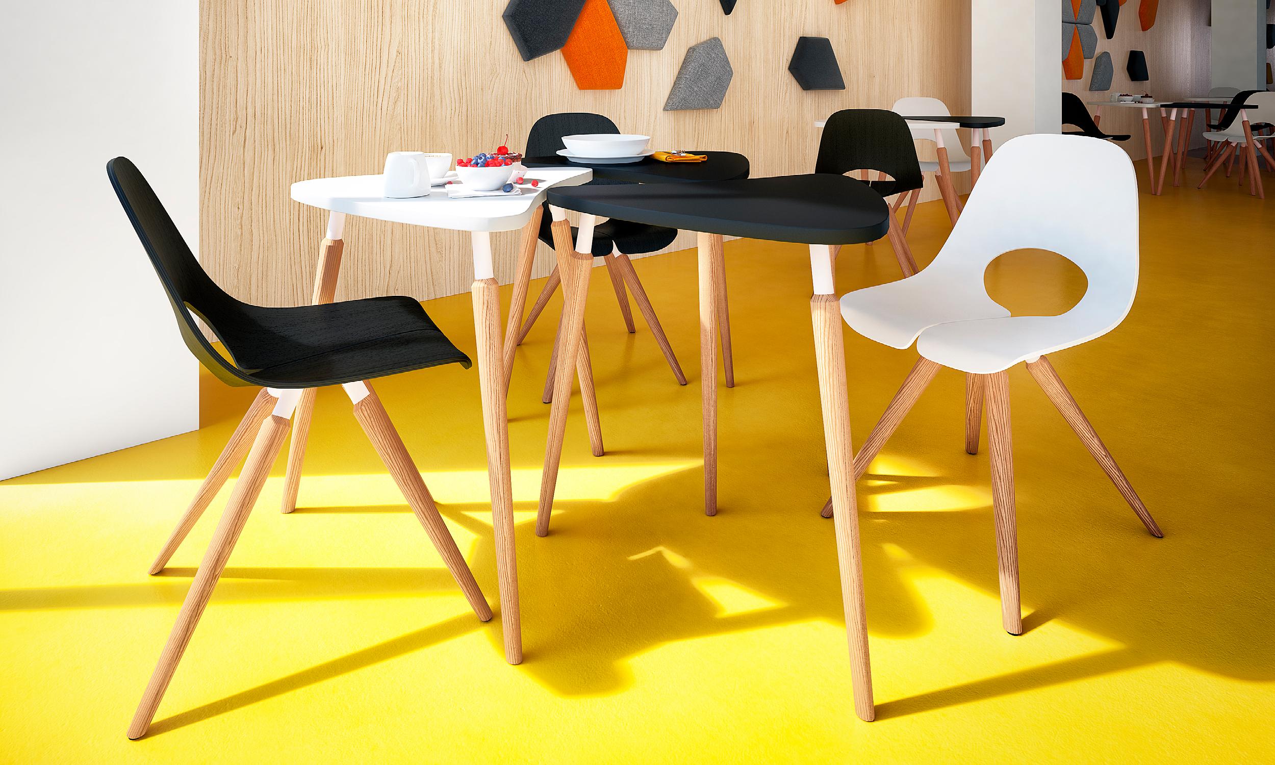 Chaise de réunion en bois Tauko