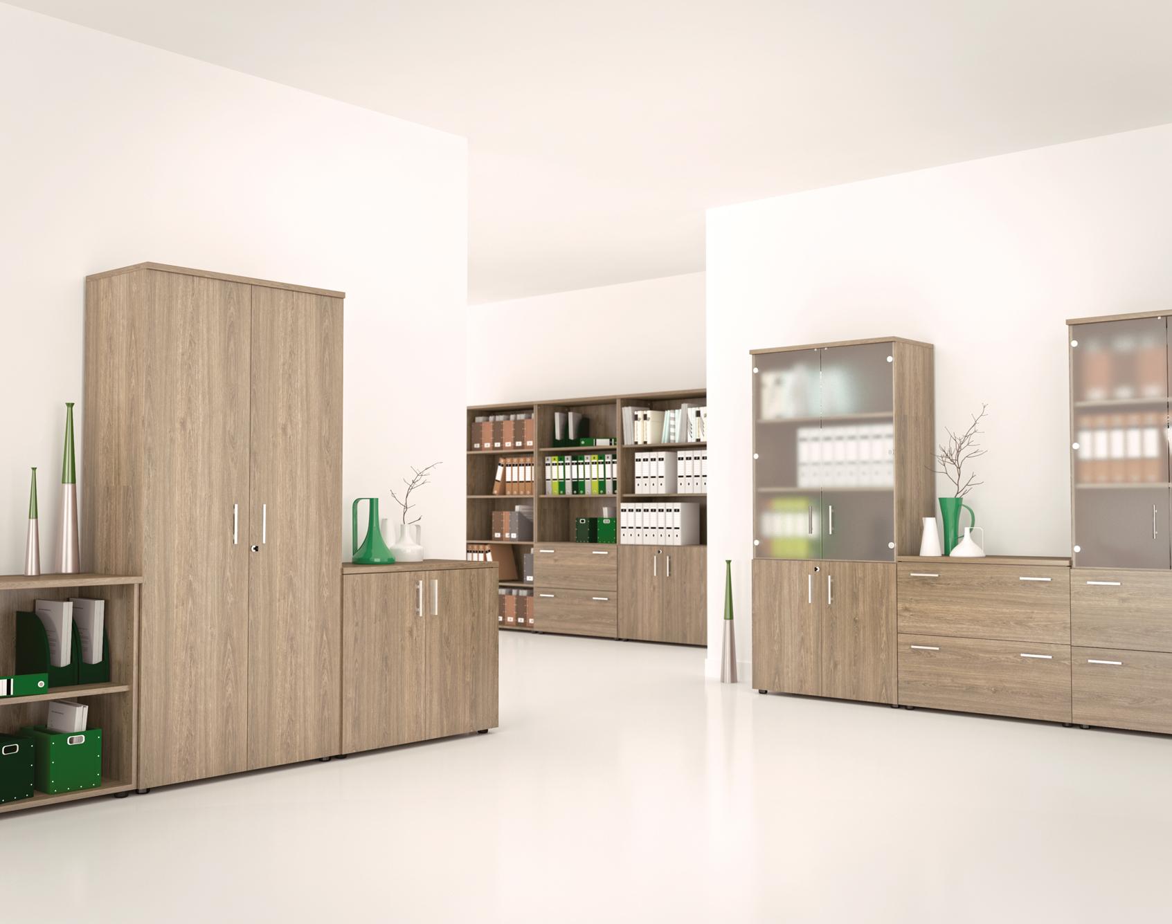 Armoire bois design rangement bureau