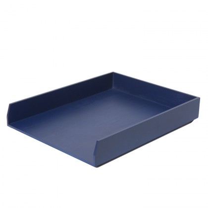 Bannette de bureau bleu casier courrier for Casiers de rangement bureau