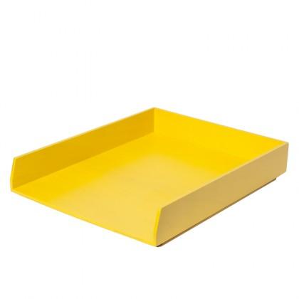 bannette jaune pour ranger son bureau. Black Bedroom Furniture Sets. Home Design Ideas